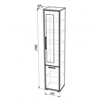 Шкаф для белья ШБ-2 (правый)