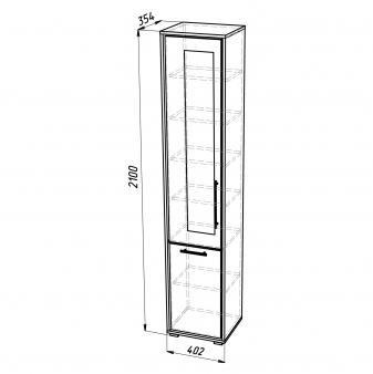 Шкаф для белья ШБ-2 (левый)